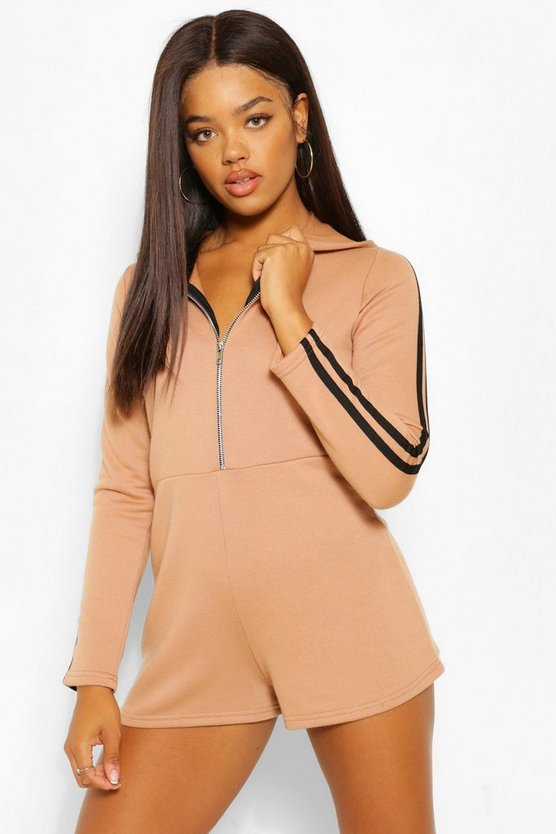 Womens Pullover-Playsuit Mit Kapuze
