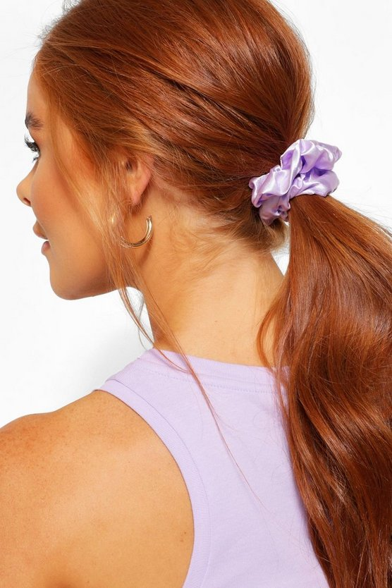 Womens 3Er-Pack Satin-Scrunchies - Mehrfarbig - One Size