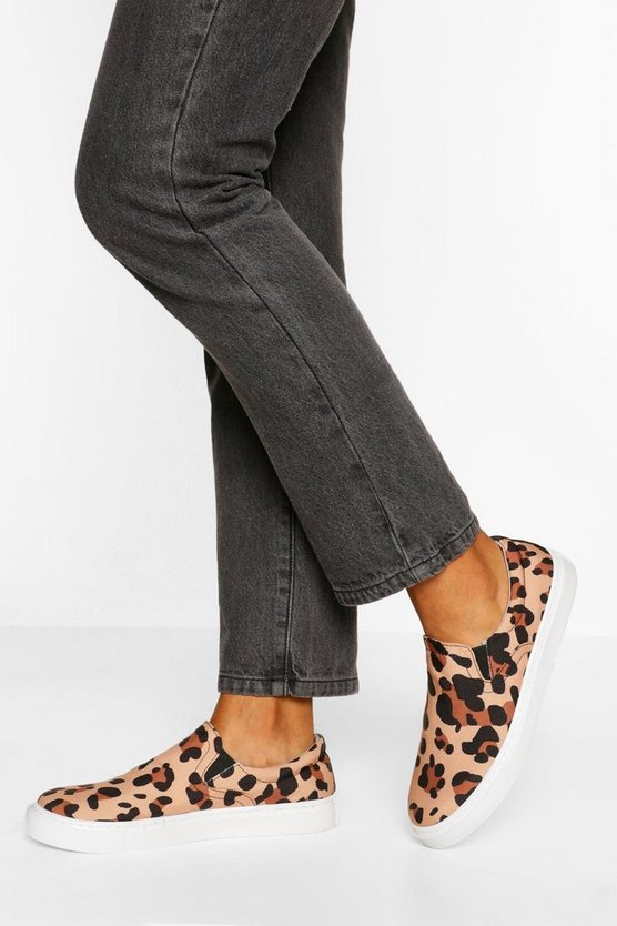 Womens Skater Mit Plateausohle Mit Leopardenmuster - 38