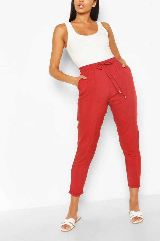 Womens Relaxed Fit Casual-Jogginghosen - Tabakbraun - 30