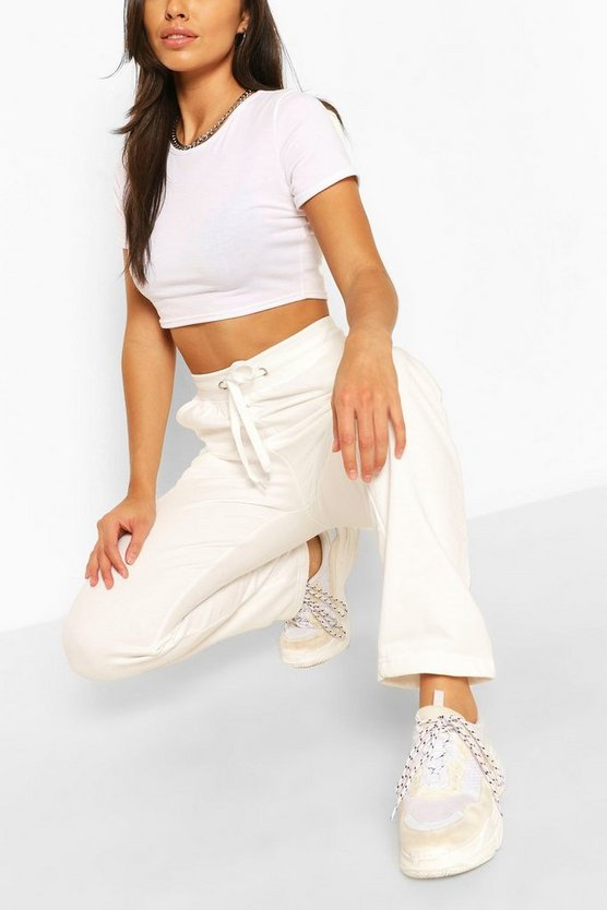Womens Slim Fit Jogginghose - Naturfarben - Xxxl