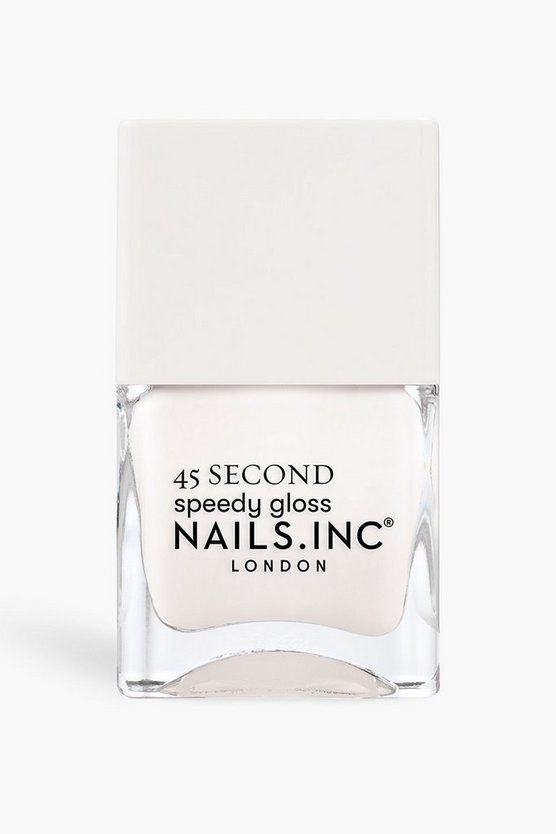 Womens Nails Inc 45 Second Nagellack Find Me In Fulham - Weiß - One Size