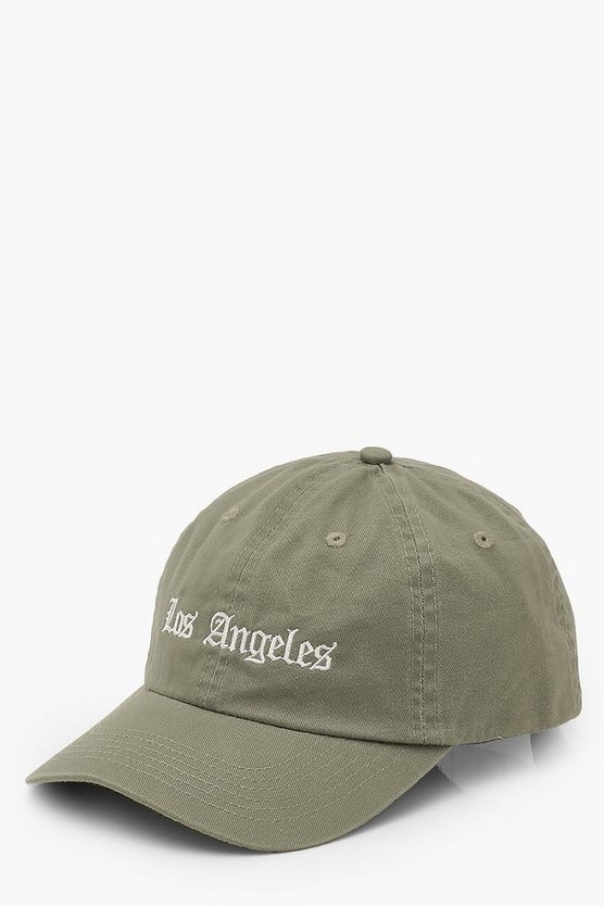 "Womens Cap Mit ""Los Angeles""-Slogan - Salbeigrün - One Size"