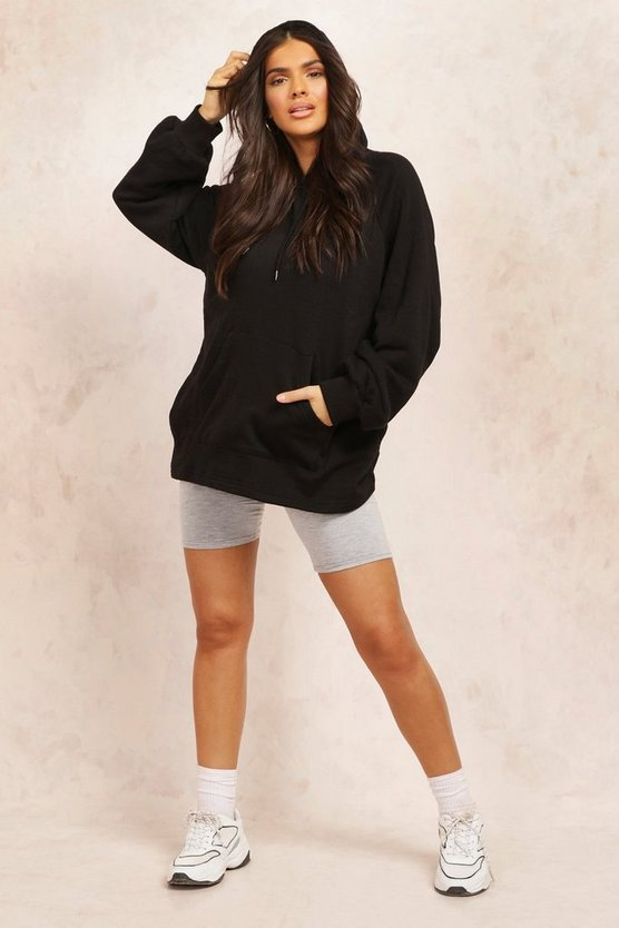 Womens Mix And Match Edition Longline-Hoodie - Schwarz - S