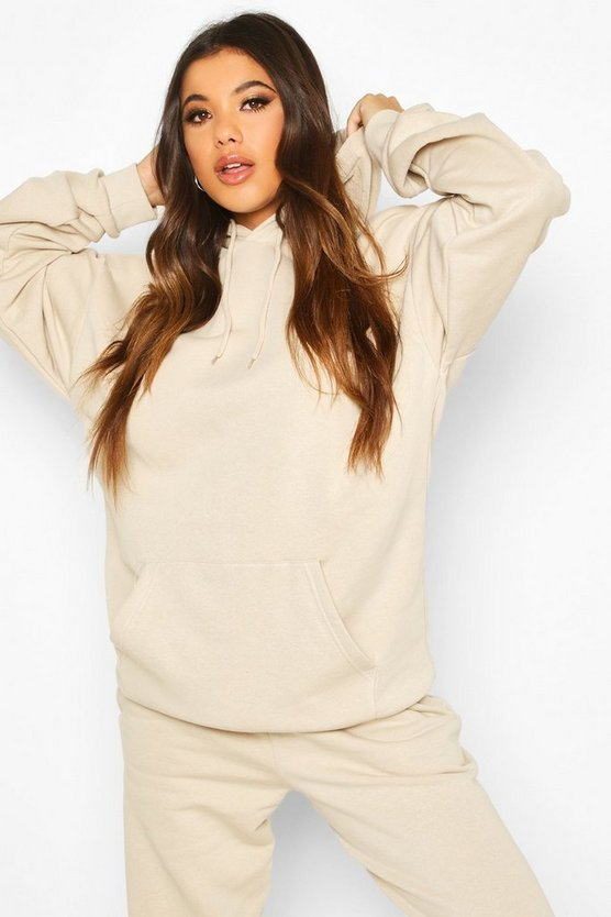Womens Der Grundlegende Mix & Match Oversized Hoodie - Sand - L