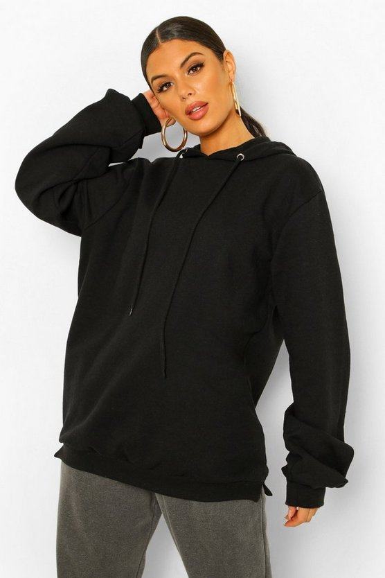 Womens Extremer Oversized Hoodie - Black - 36