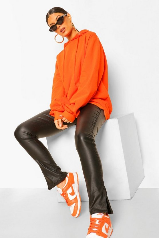 Womens Extremer Oversized Hoodie - Orange - 40
