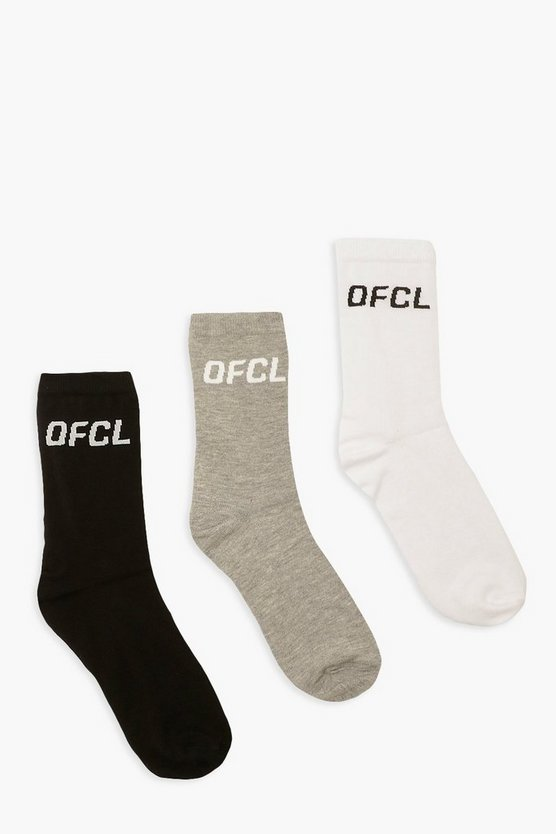 Womens Mixed 3 Pack Ofcl Sports Socks - Multi - One Size