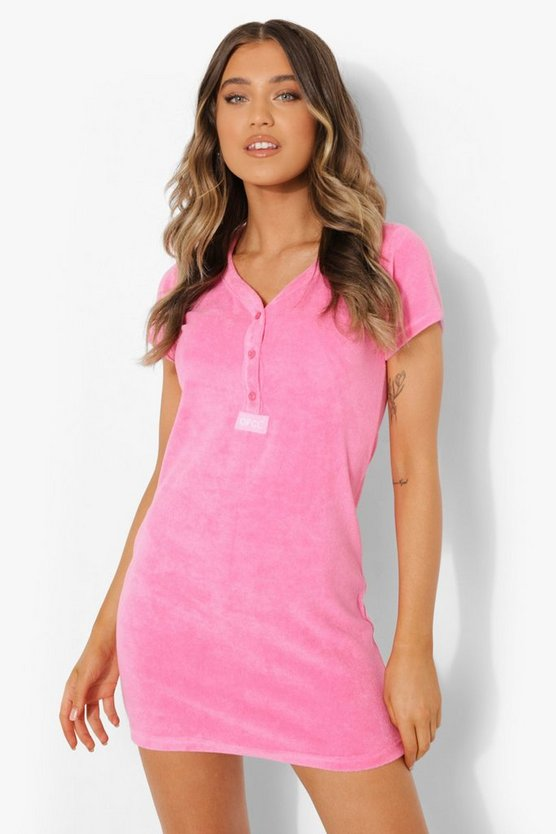 Womens Official Frottee-Kleid - Pink - 40