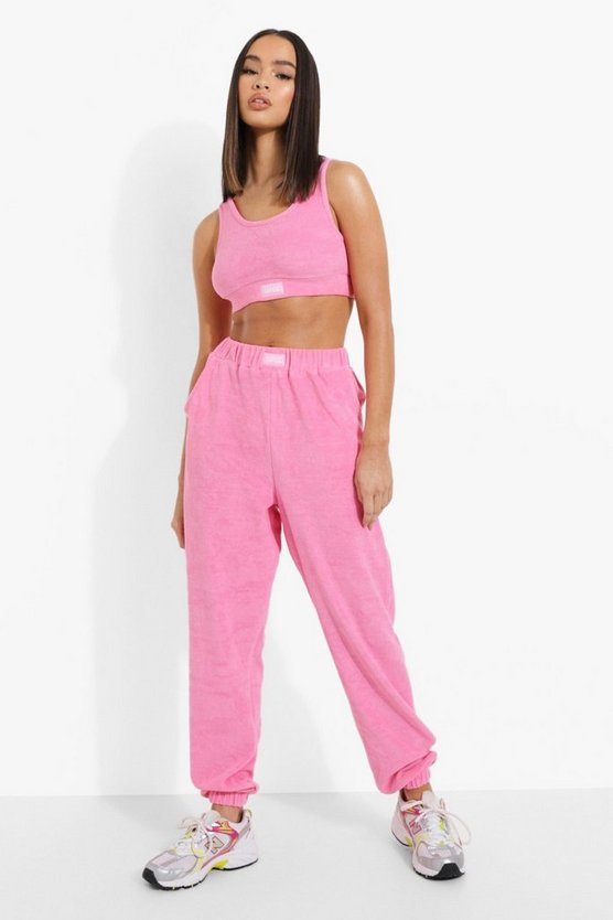 Womens Official Frottee Skinny-Jogginghose - Pink - 38