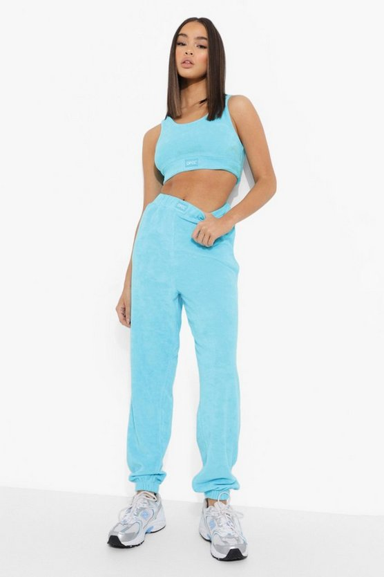 Womens Official Frottee Skinny-Jogginghose - Blue - 42