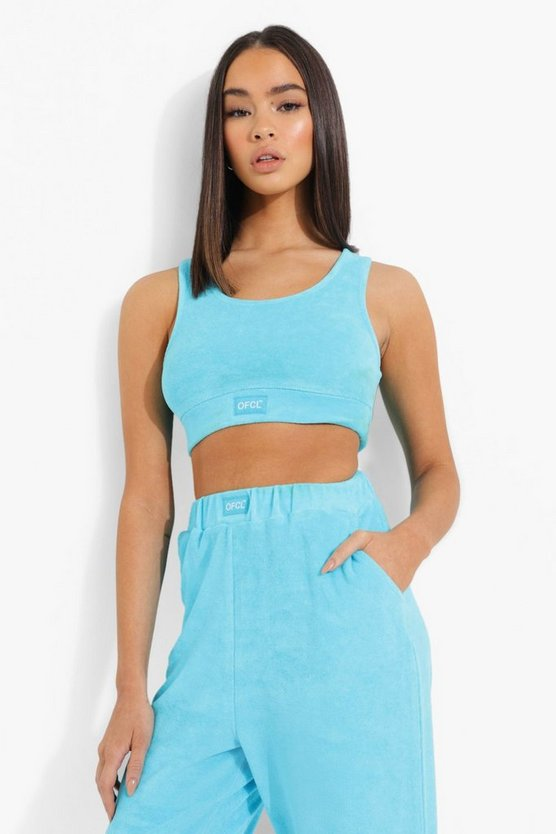Womens Official Frottee-Bralette - Blue - 42