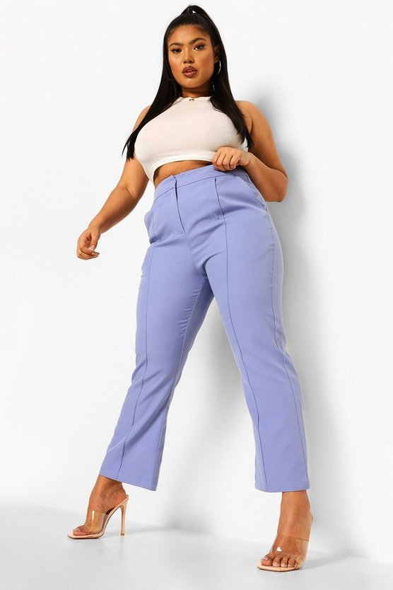 Womens Plus Occasion Tailored Cropped Trouser - Lilac - 46